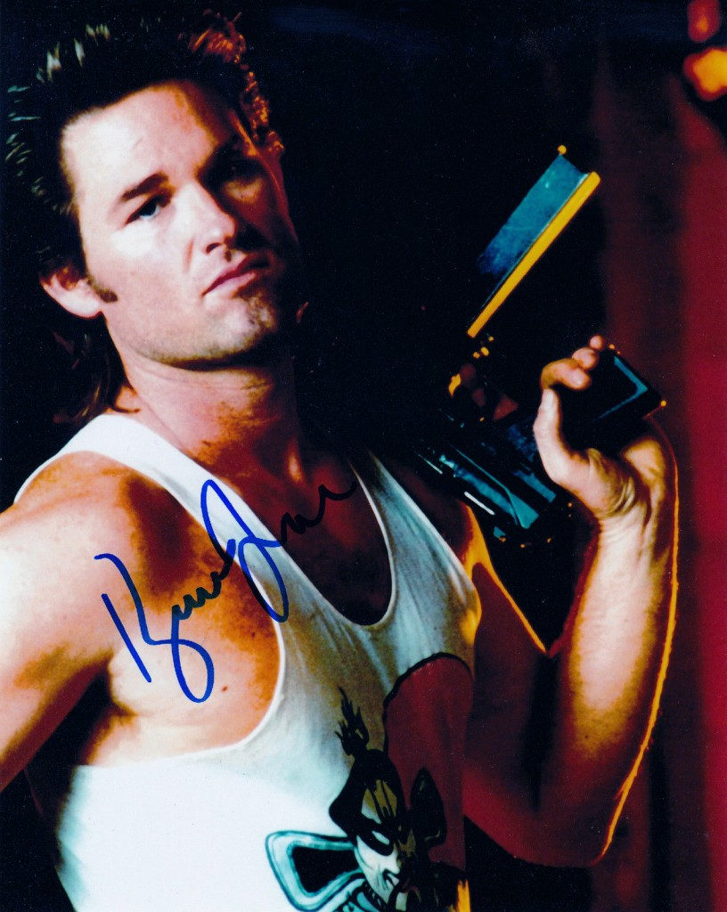 Kurt Russell signed this photo, one of several dozen cast-signed shots from the production, including original script.