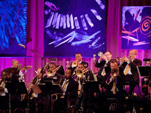 Wynton Marsalis and Jazz at Lincoln Center Orchestra, Grass Valley, Ca. Performance, 2016.