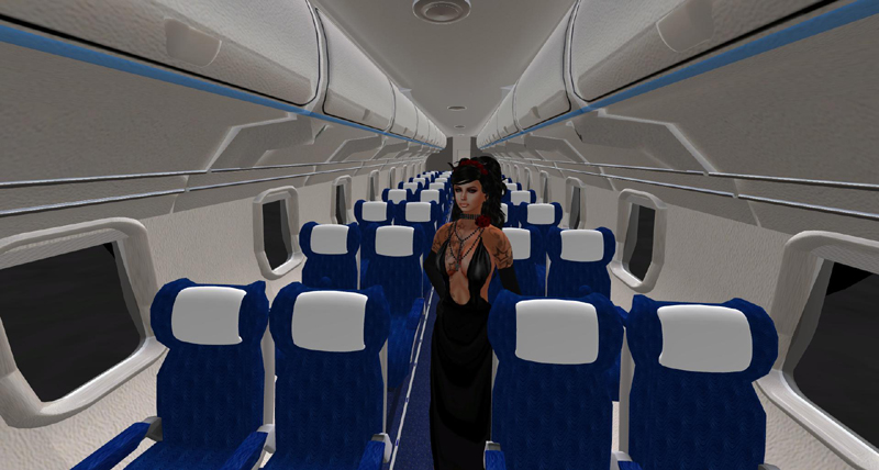 aboard the transdimensional airline Flight L315a bound for Solaria.