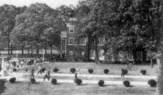 Elon College campus, circa 1960.