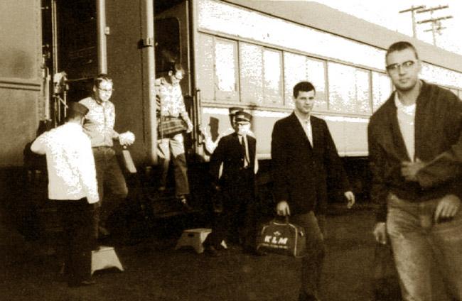Arriving at the Spy School at Arlington, Virginia, spring of 1964.